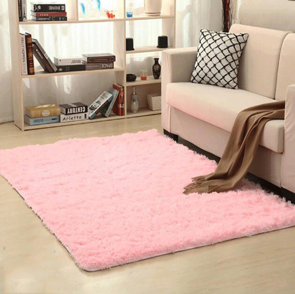fzw Tappetini domestici in tinta unita (Colore : Rosa, dimensioni : 40*60cm)