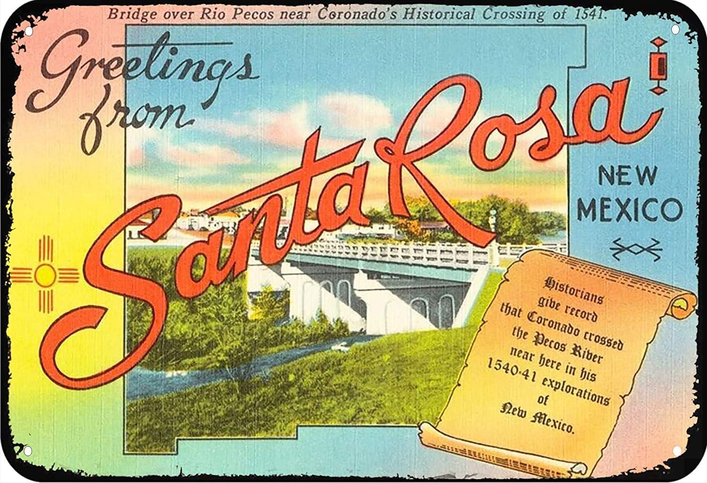 ERMUHEY Santa Rosa New Mexico Art Poster Art Decor Room Decor Tin Sign