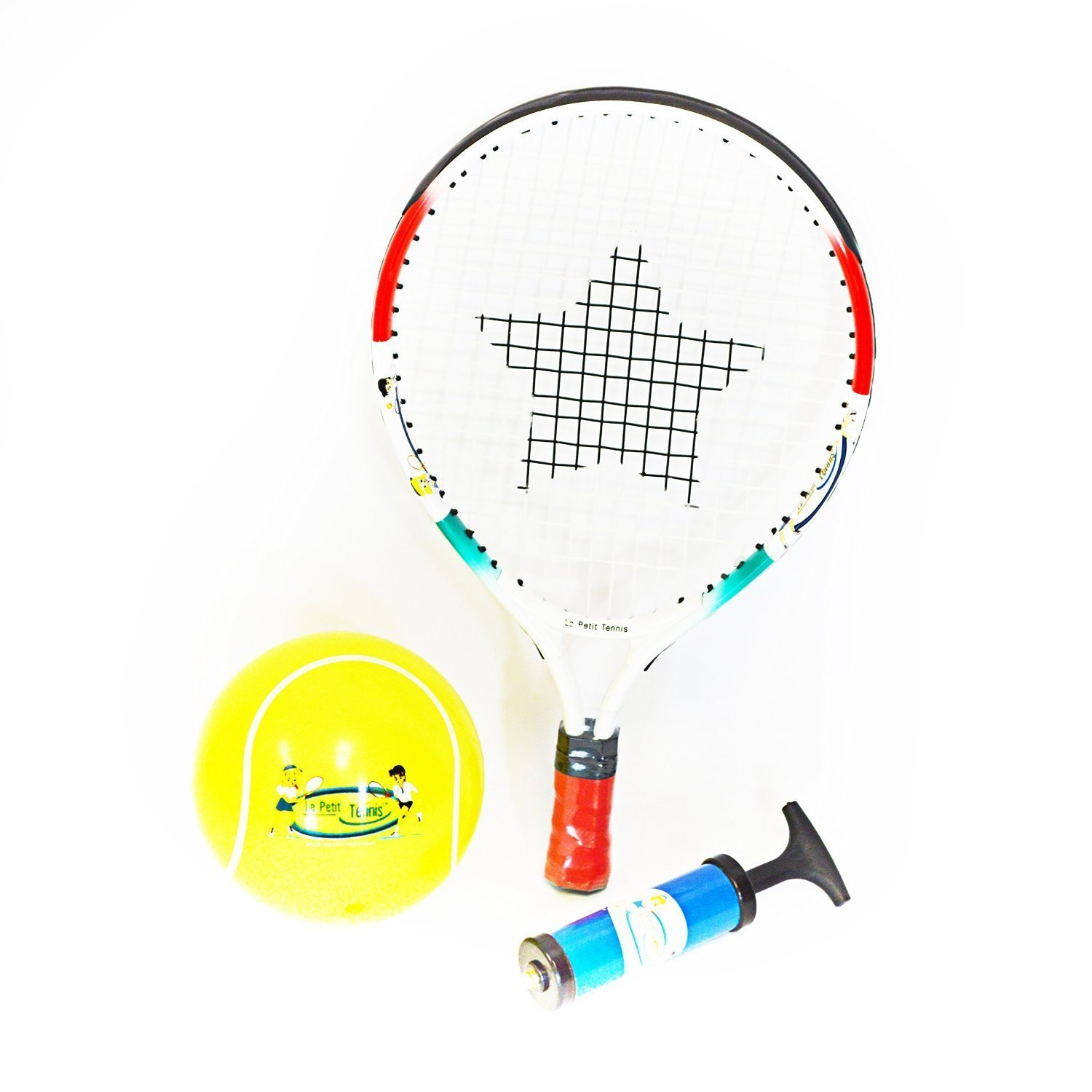 "Amazon.com: Le Petit Tennis ""Baby"" Racquet 15"" + Inflatable Ball (For Ages  1-2) NEW: Sports & Outdoors"