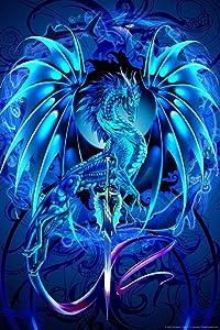 Blue Dragon Dragonsword Seablade Ruth Thompson Nina Nylander Cool Wall Decor Art Print Poster 24x36