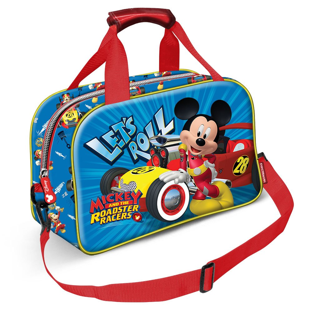 38 cm Karactermania Mickey Mouse Racers-Sports Bag Sac de Sport Enfant Bleu Blue