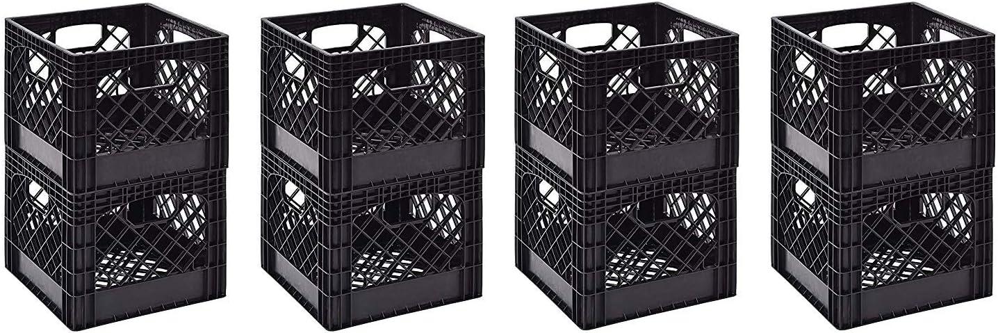 Juggernaut Storage 11 x 13 x 13 Black Milk Crate Pack of 2