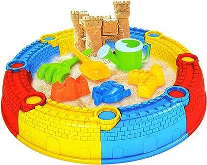 Foxom 15 Piezas Conjunto de Castillo Arena de Dig Juguetes de Playa Juego de Playa para Niños, 34.5 * 30 * 10.5CM: Amazon.es: Juguetes y juegos