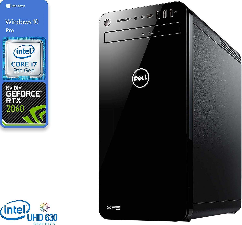 Dell XPS 8930 Gaming Desktop, Intel Core i7-9700 Upto 4.7GHz, 32GB RAM, 512GB NVMe SSD, NVIDIA GeForce RTX 2060, DVDRW, HDMI, DisplayPort, DVI, Card Reader, Wi-Fi, Bluetooth, Windows 10 Pro