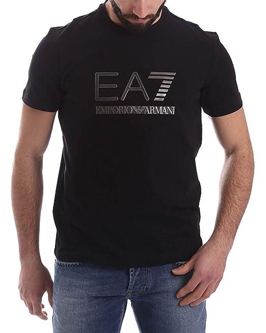 Shirt Uomo Emporio Nero Armani Girocollo Corte Maglia T Maniche Ea7 wmn80N
