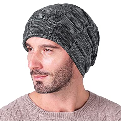 23a9c228890 Image Unavailable. Image not available for. Color  QSN Wool Men s Winter  Hats 2019 Fashionable Knit ...