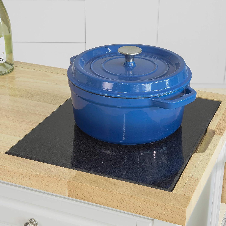 Grande Armoire de Rangement SoBuy FKW84-WN Desserte sur roulettes Meuble de Cuisine de Service Roulant avec Plans de Travail Rabattable