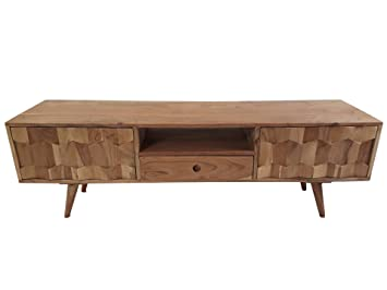 Freudenhaus Retro TV-Board Sideboard Honeycomb Akazie Massiv: Amazon ...