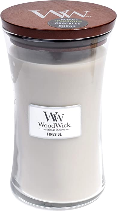 WoodWick Hourglass Scented Candle, Fireside, Large, 21.5 oz.