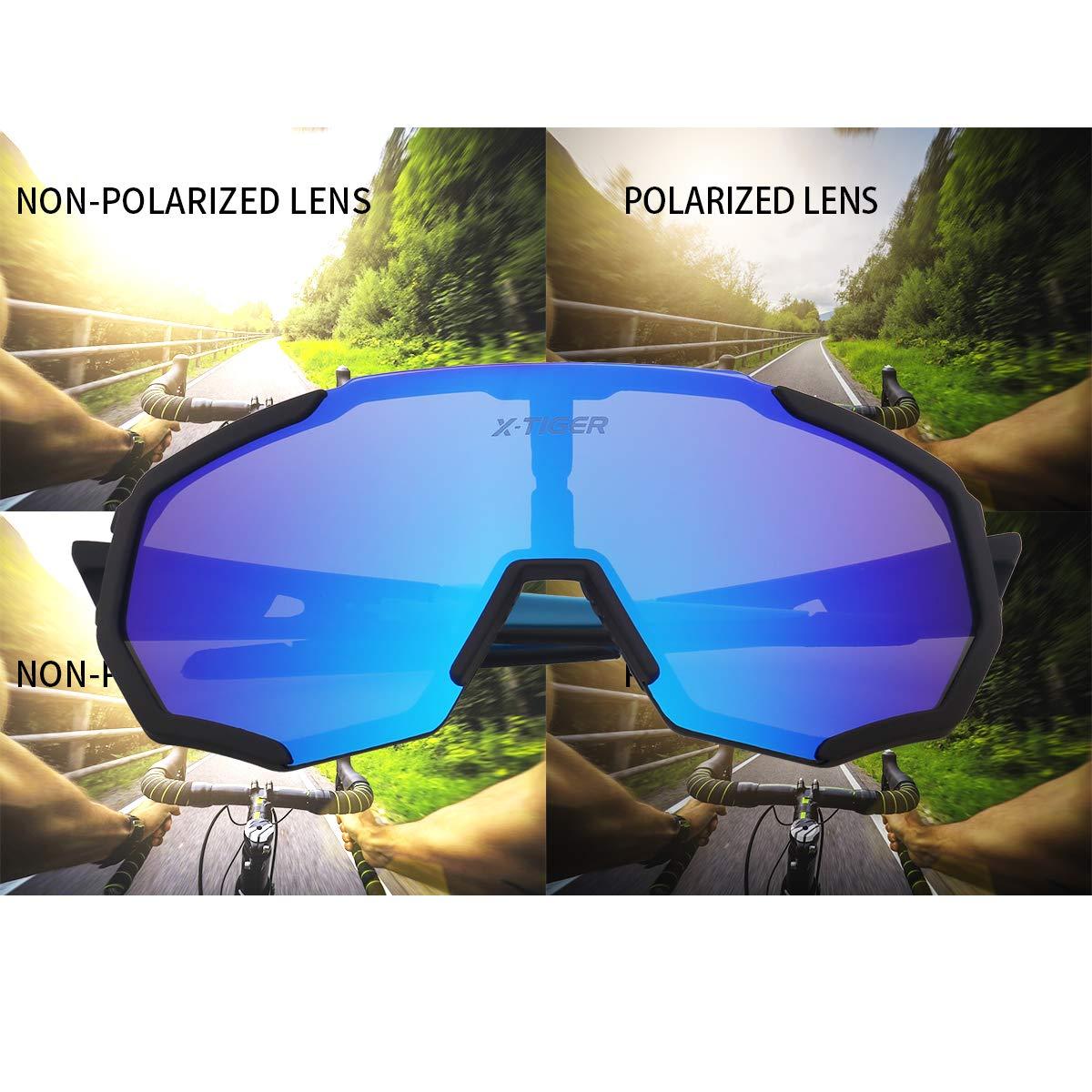 Amazon.com: X-TIGER Gafas de sol polarizadas deportivas con ...