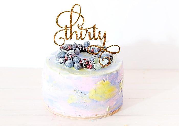 Amazon Thirty Cake Topper Birthday Cake Topper 30th Birthday