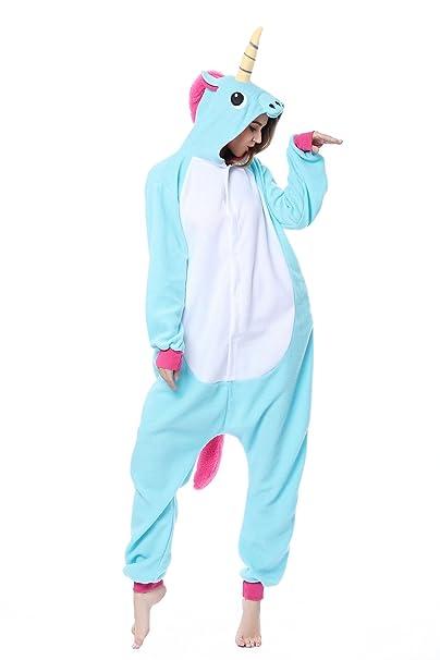 Kigurumi Pijamas Unicornio Cosplay Unisex Animal Pijamas Halloween Navidad Carnaval fiesta de cumpleaños (S,