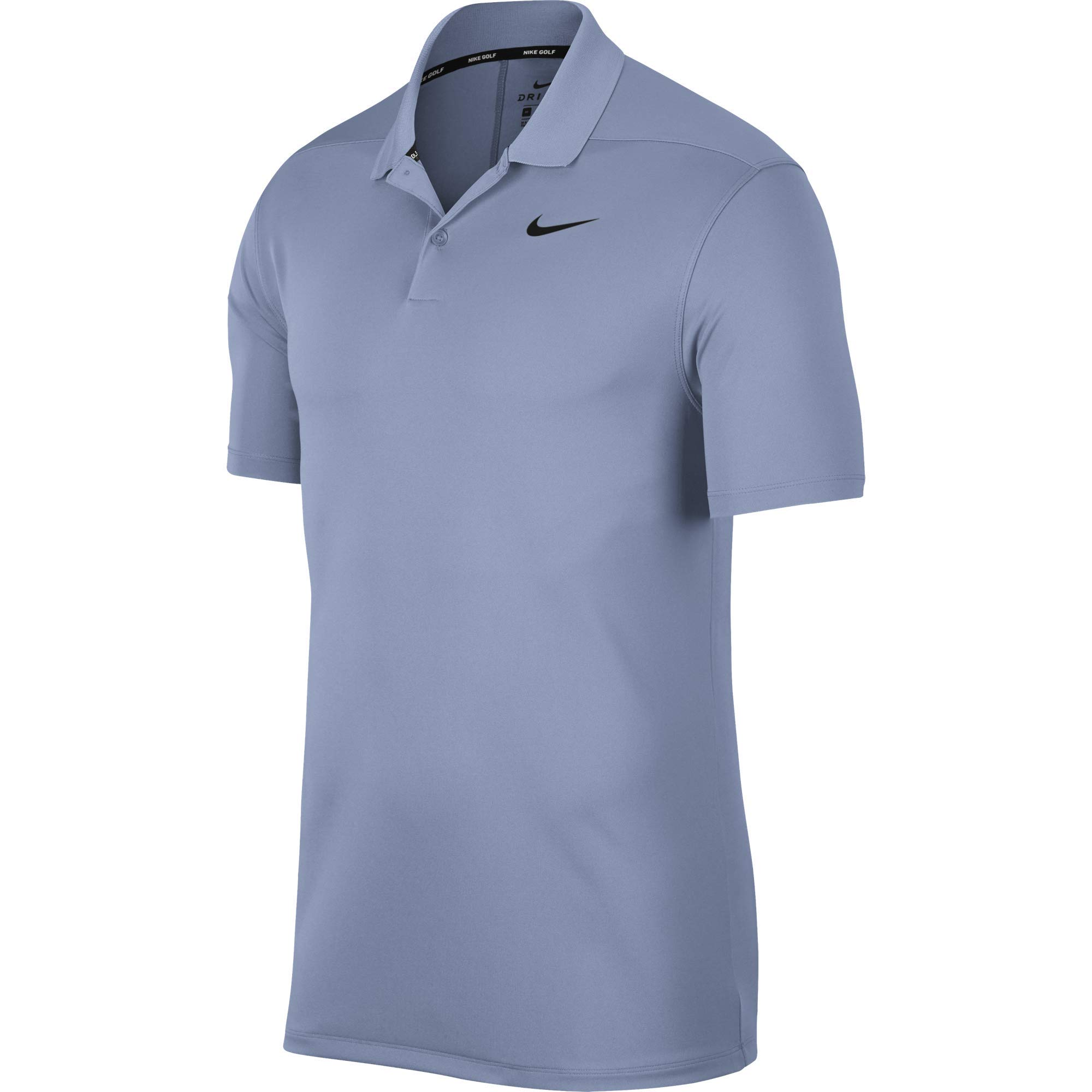 Nike Men's Dry Victory Polo Solid Left Chest, Indigo Fog/Black, Small by Nike