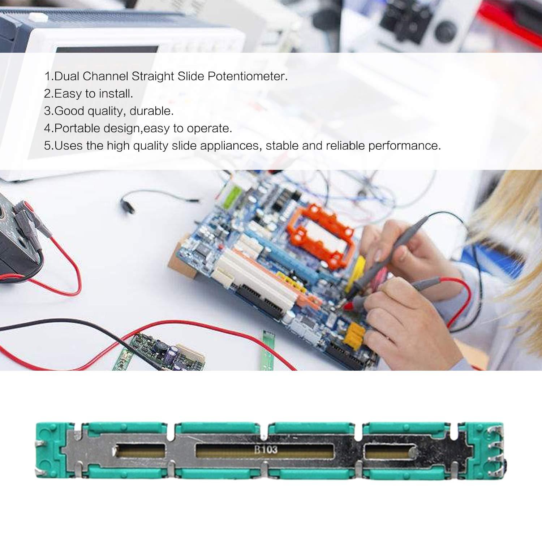 Double B10K Original Behringer Mixer Fader 7.5 CM 75MM B10KX2 Potentiometer Dual Channel Straight Slide Potentiometer