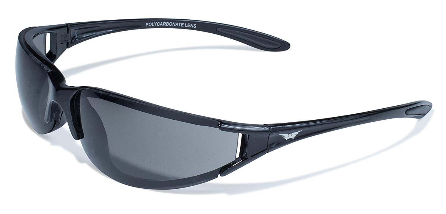 Global Vision Eyewear T-4 Series with Gloss Black Frames and Smoke Lenses Global Vision Eyewear Corp T-4 SM