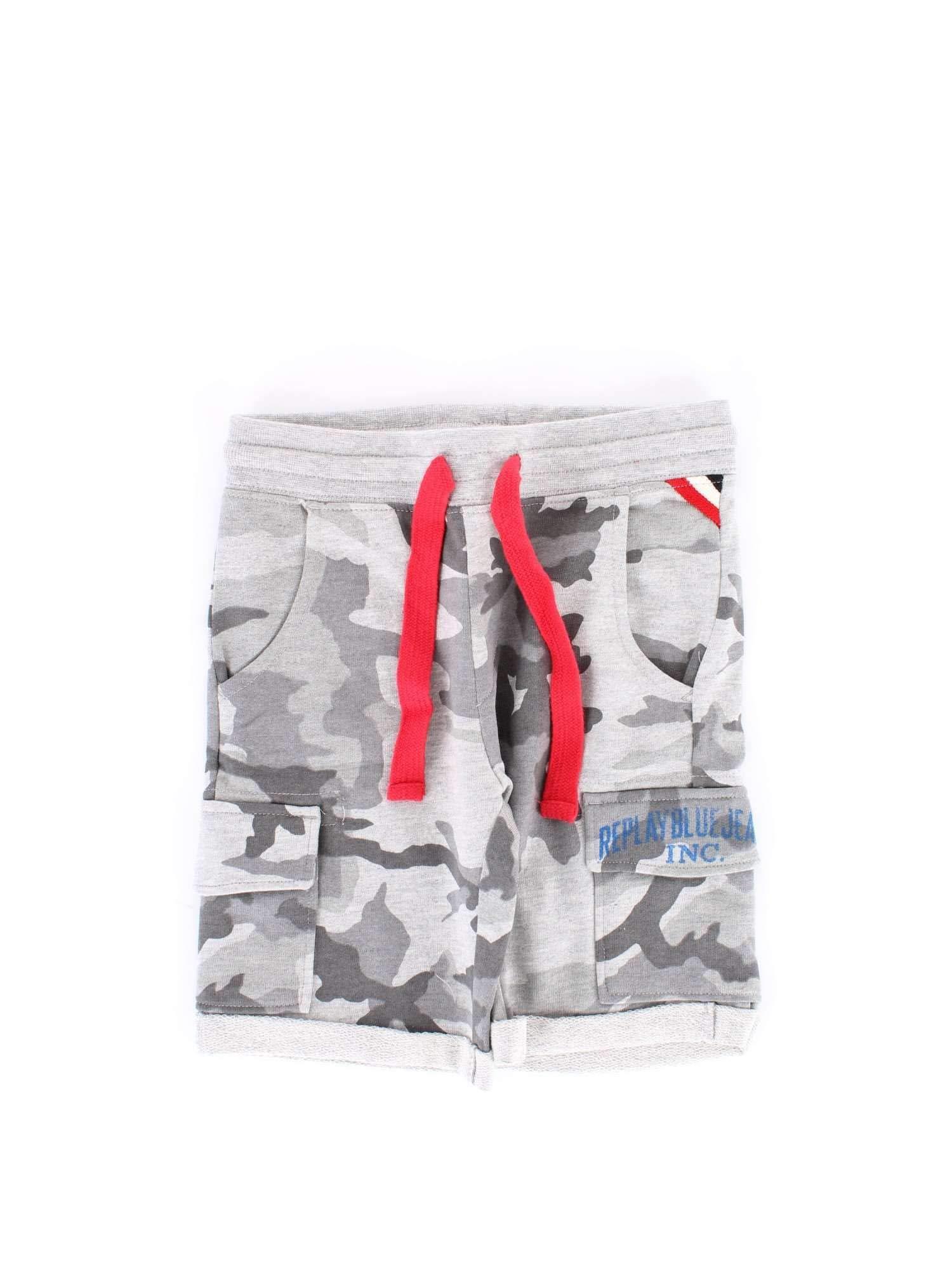 Replay Boys Sb9637050m01 Grey Cotton Shorts