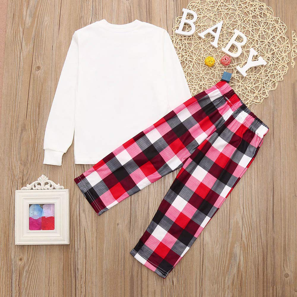 Amazon.com: G-real Pajamas Set,Women Mom Santa Deer Tops Blouse Pants Family Pajamas Sleepwear Christmas Set+Fall Winter Set: Clothing