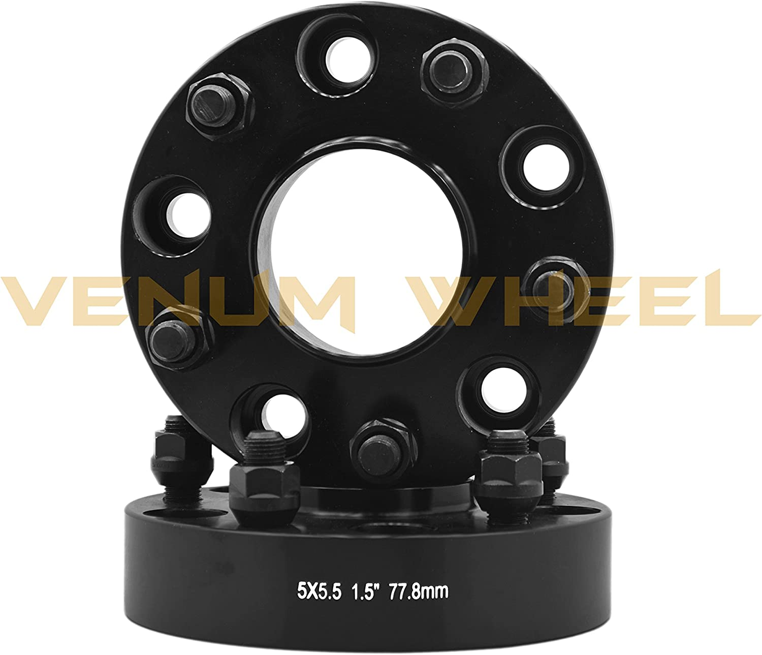 4 Pc Ram 1500 1.25 Thick Black Hub Centric Wheel Spacers 2x4 5x5.5 Adapters 77.8mm 4x4