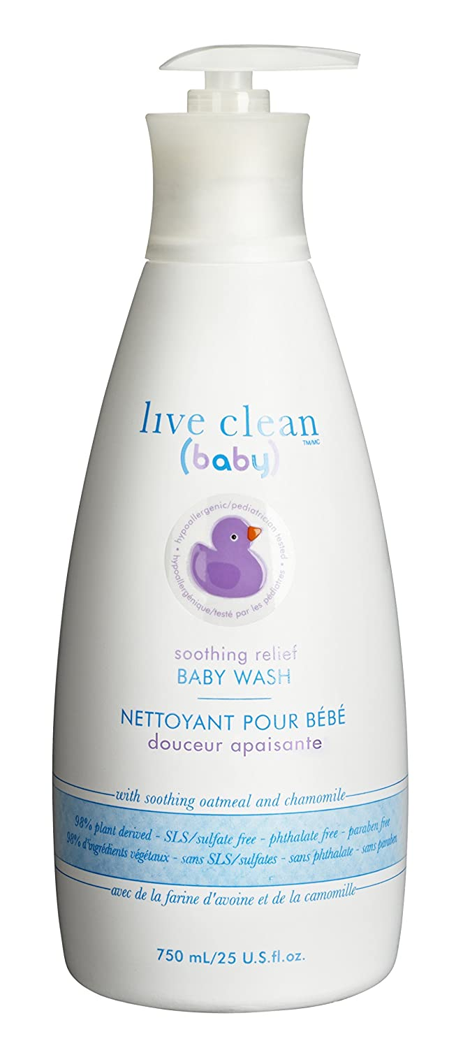Live Clean Baby shampoo and wash soothing oatmeal relief 750 Milliliters