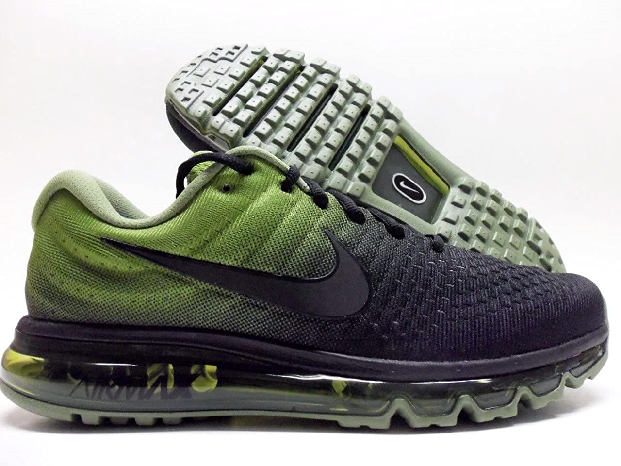 size 40 ce6f5 55f83 Amazon.com | NIKE AIR Max 2017 New Black/Green [ 849559-006 ...