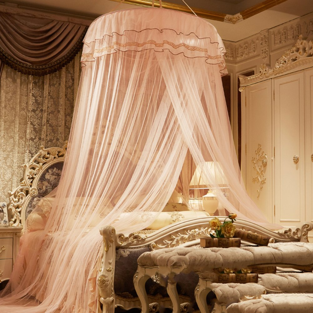 Dome ceiling princess bed canopy, Palace Enlarge Double Oversized mosquito net mosquito-curtain for twin Queen and king size -G Twin2