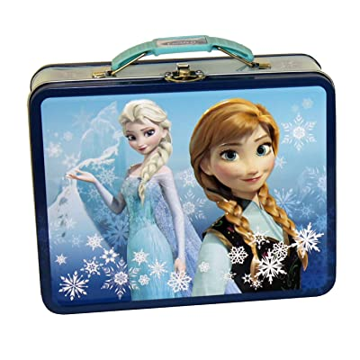 The Tin Box Company 497607-12 Disney Frozen Tin Lunchbox- Blue: Kitchen & Dining