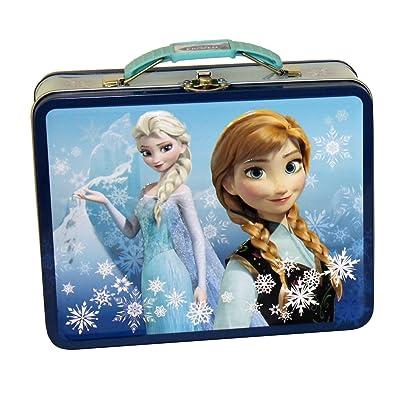 The Tin Box Company 497607-12 Disney Frozen Tin Lunchbox- Blue: Kitchen & Dining