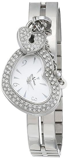 Paul Versan Reloj Análogo clásico para Mujer de Cuarzo con Correa en Acero Inoxidable PV9608: Amazon.es: Relojes