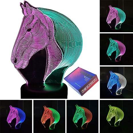 Amazon.com: Lámpara de luz nocturna LED 3D con ilusión de ...