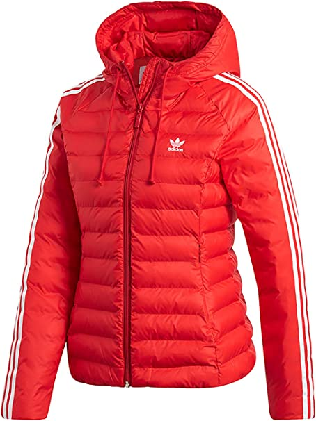 adidas Originals Jacke Damen Slim Jacket ED4785 Rot, Size:34