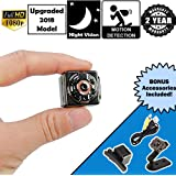 [2018 UPGRADED] Horonzo Mini Hidden Spy Camera - 1080P HD - Motion Detection - Night Vision - Long battery life - Ideal Surveillance Camera, Body Cam, Nanny Cam, Action Camera