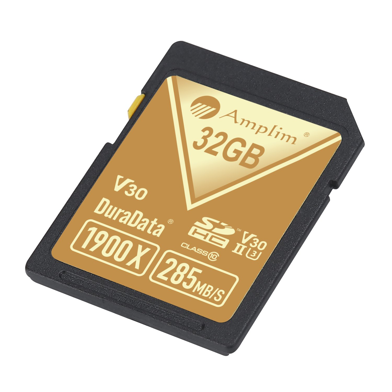 Amplim 32GB UHS-II SDHC SD Card Blazing Fast Read 285MB/S (1900X) Class 10 U3 Ultra High Speed V30 UHSII Extreme Pro SD HC Memory Card. Professional 4K Full HD Video Shooting 32 GB/32G TF Flash. New by Amplim (Image #5)