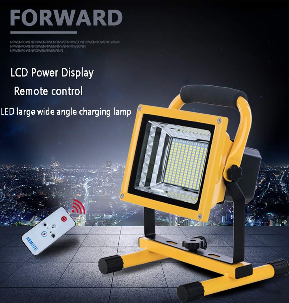 Carga USB 6 Modos de Brillo Ajustable Camping Foco LED Recargable 500W 9000LM Foco LED Reflector para Trabajo Exterior IP66,15600 mAh Bater/ía Incorporada Luz de Inundaci/ón Port/átil para