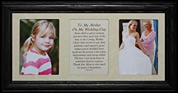7x15 to my mother on my wedding day poetry photo wedding gift for the mother - Mother Of The Bride Picture Frame