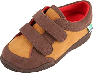 2146f62017ad Mooshu Trainers Baby Boy Tan Hook and Loop Squeaky Shoes 3-4