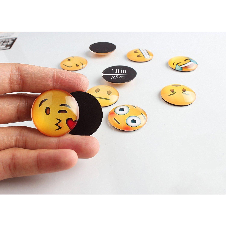 Amazon.com: Imanes de nevera Emoji con cara sonriente ...