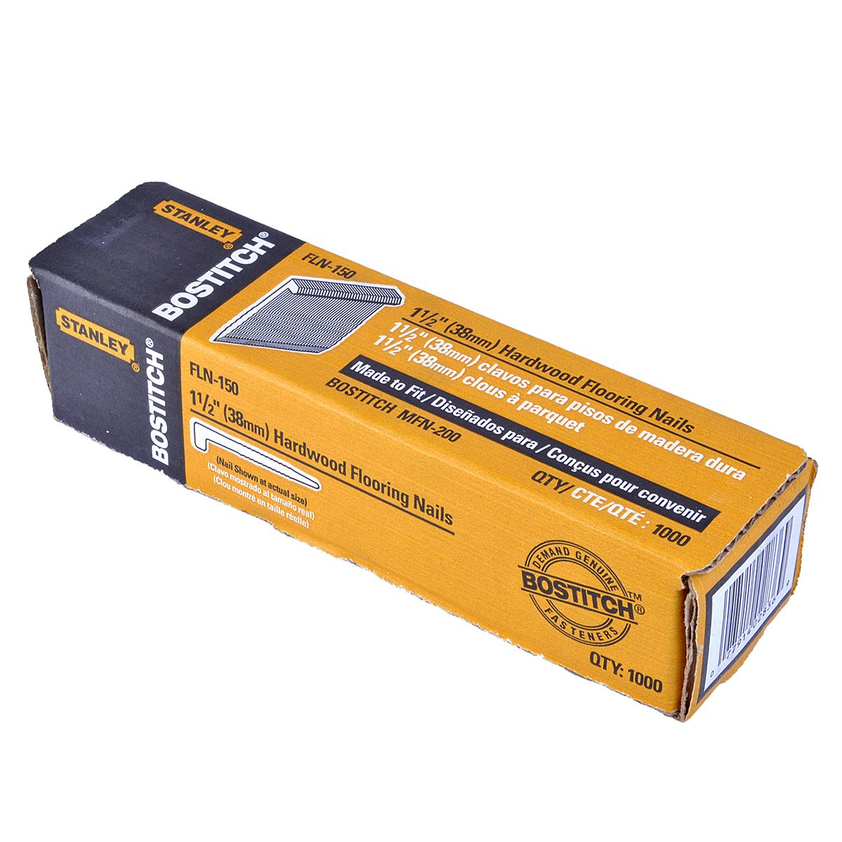 Hardwood Floor Nails porta nails 41802 l head hardwood flooring nails 1 12 Bostitch Fln 200 2 Inch Flooring L Nail 1000 Per Box Hardware Staples Amazoncom