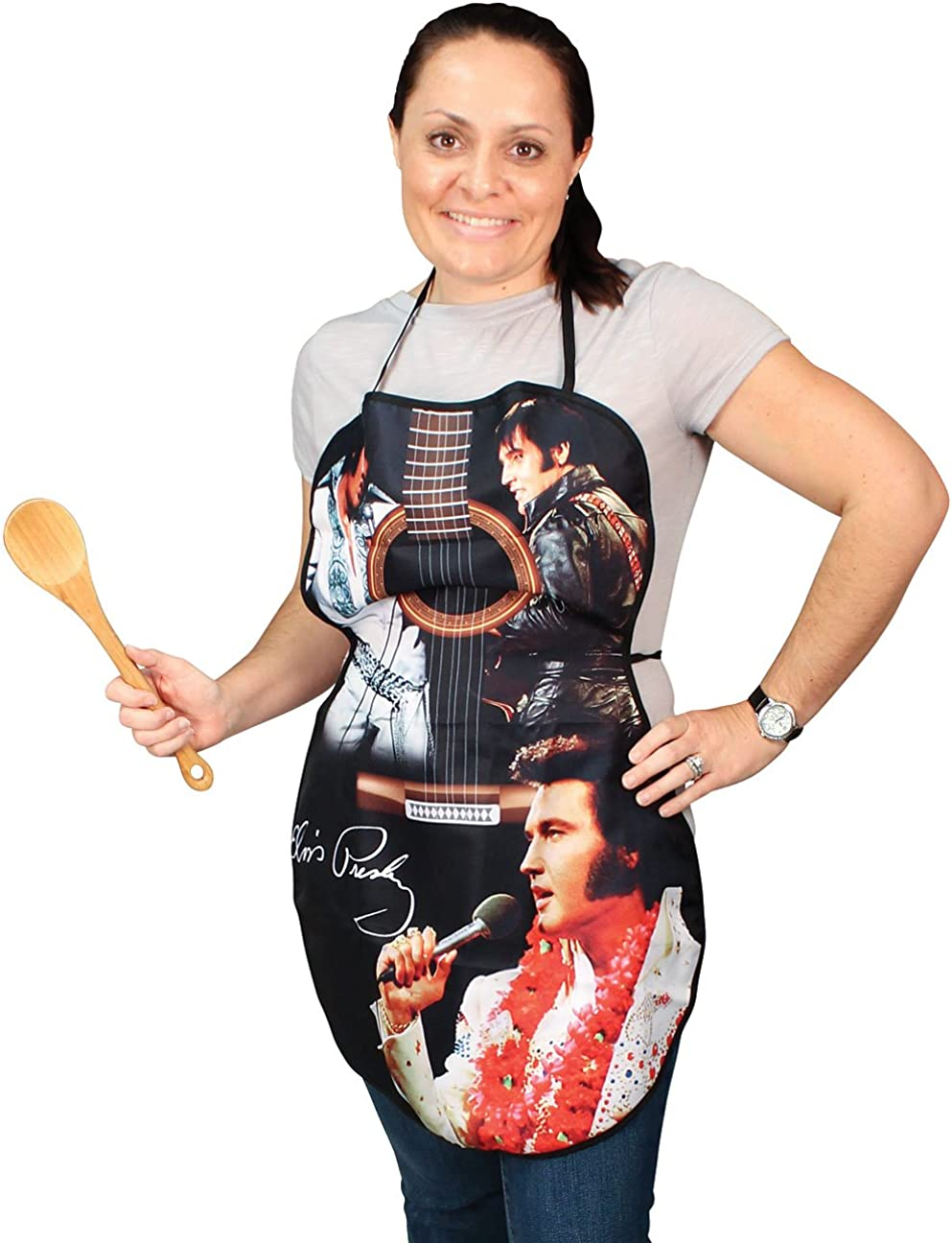 Midsouth Products Elvis Presley Apron in Shape of Guitar