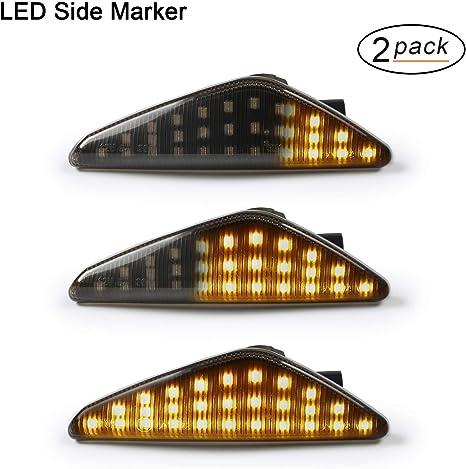 Oz Lampe Led Dynamische Led Seitenblinker Blinker 2 X Bernstein 18 Smd Mit Nicht Polarität Can Bus Fehlerfrei Oe Buchse Rauch Für E70 X5 E71 X6 F25 X3 Auto