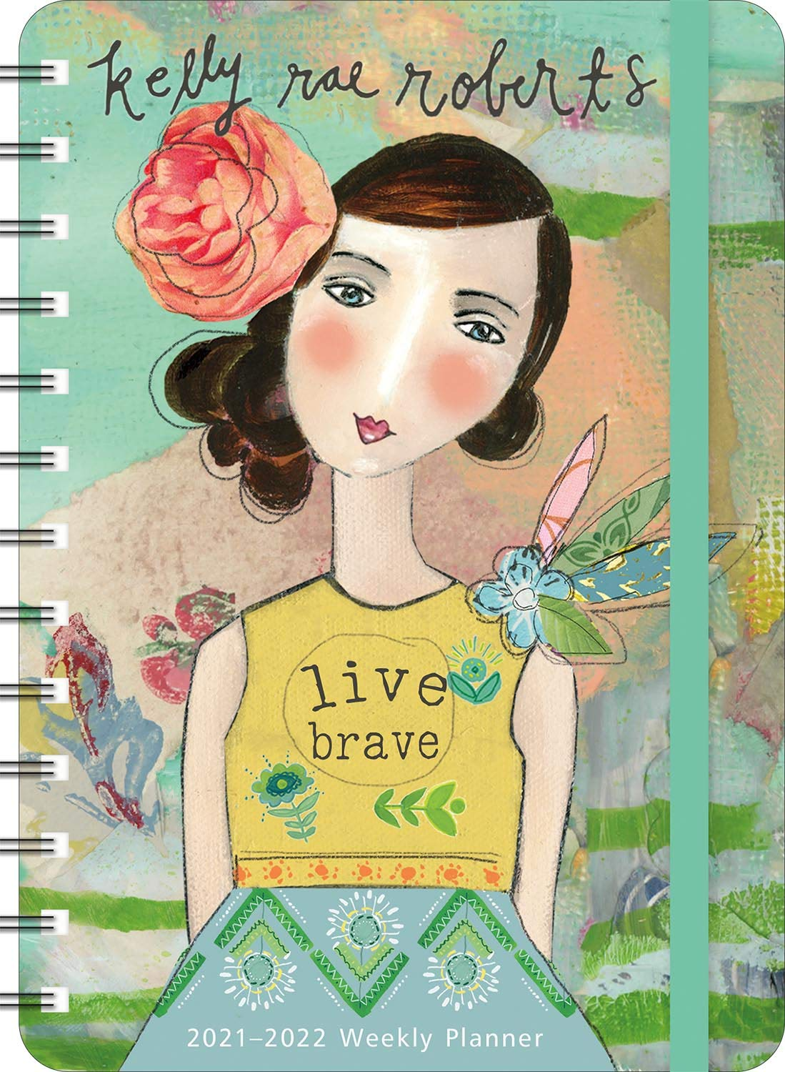 """Image for Kelly Rae Roberts 2021 - 2022 On-the-Go Weekly Planner: 17-Month Calendar with Pocket (Aug 2021 - Dec 2022, 5"""" x 7"""" closed): Live Brave"""