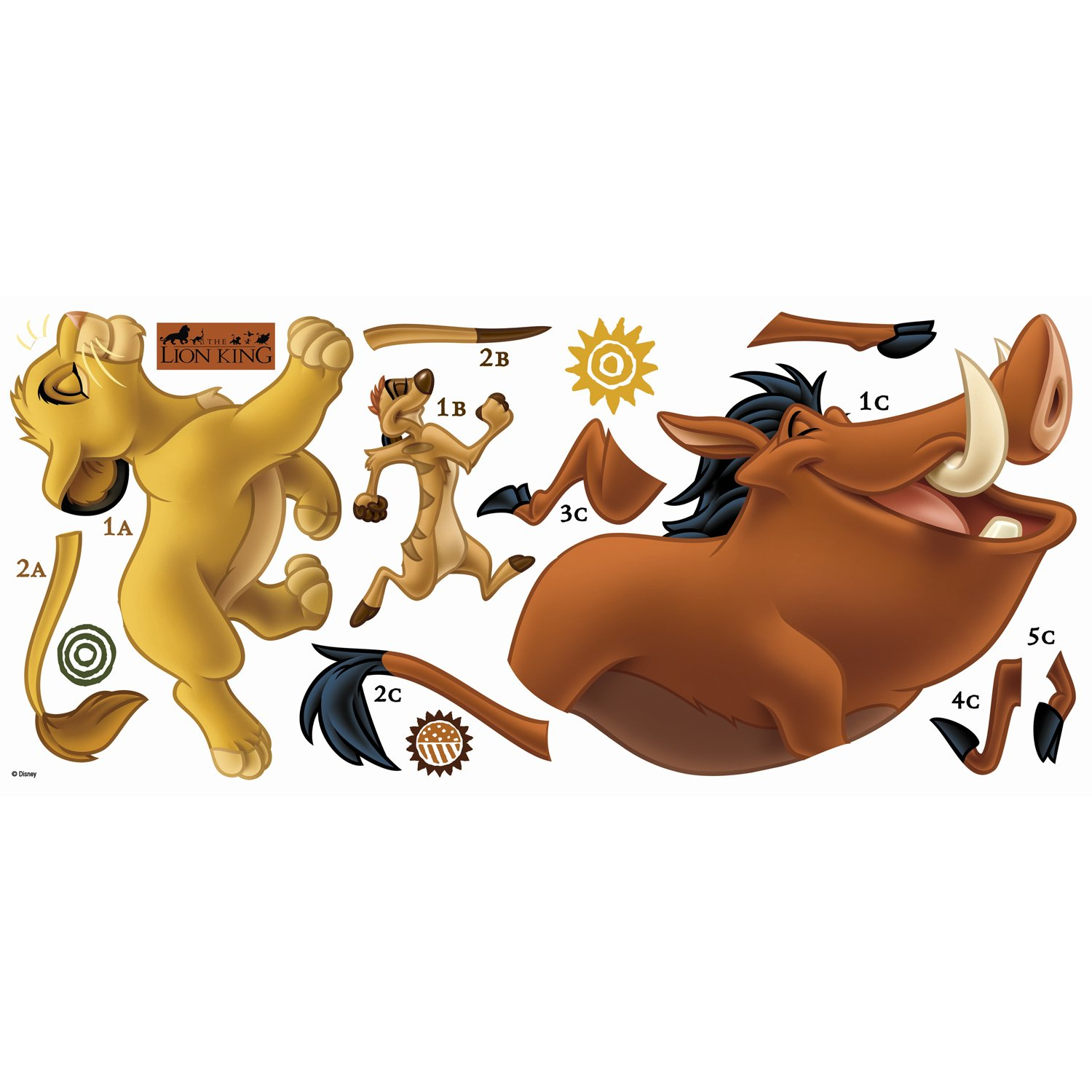 RoomMates The Lion King Peel and Stick Giant Wall Decals by RoomMates (Image #1)