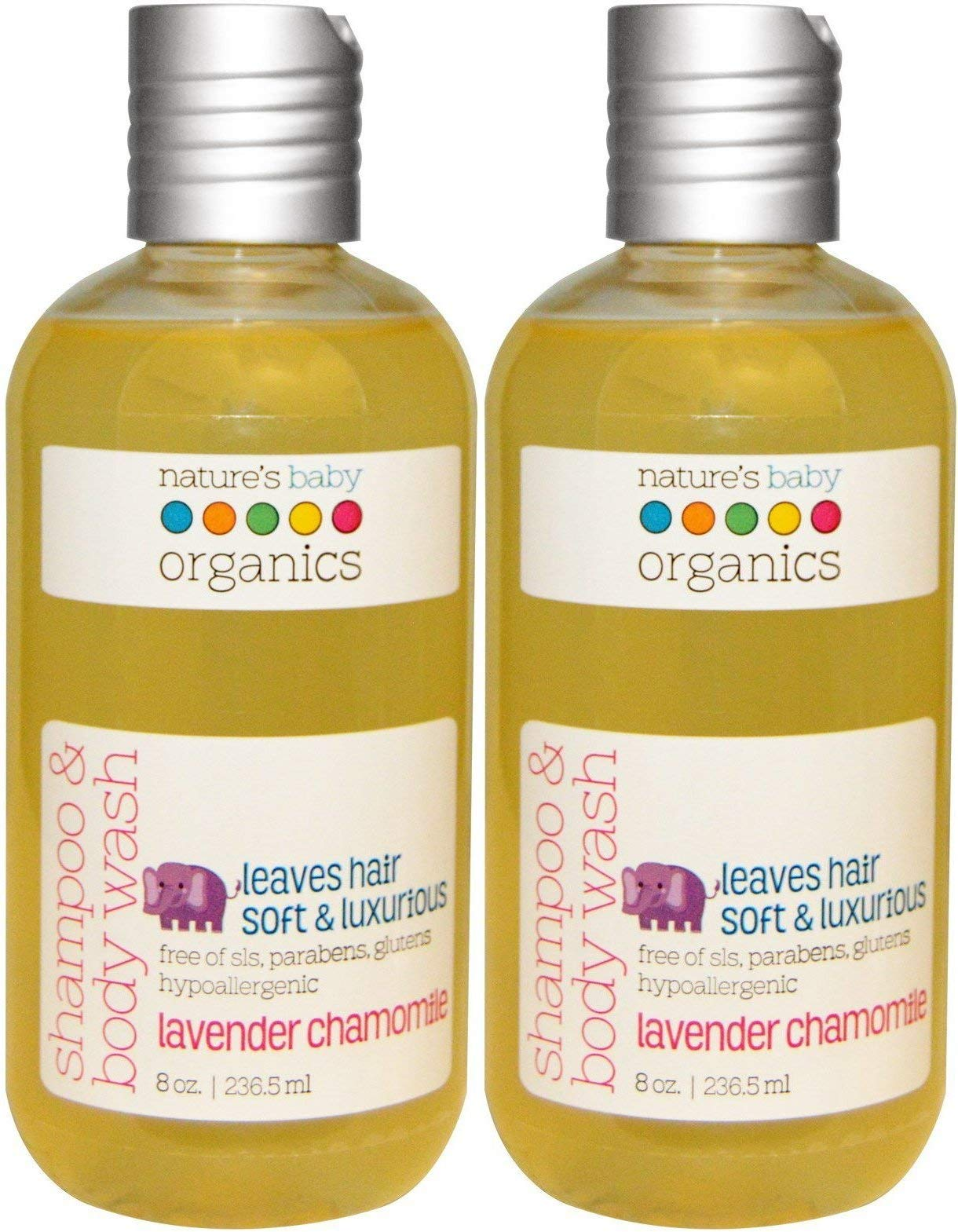 Nature's Baby Organics Lavender Chamomile Shampoo & Body Wash (Pack Of 2), With Aloe Vera, Chamomile and Vanilla, 8 Oz by Natural Beauty Planet