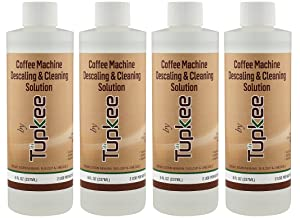 Descaling Solution Coffee Machine Descaler – For Drip Coffee Maker, nespresso, delonghi and Keurig Coffee Machines Descaling & Cleaning Solution, Breaks Down Mineral Buildup and Limescale - Pack of 4