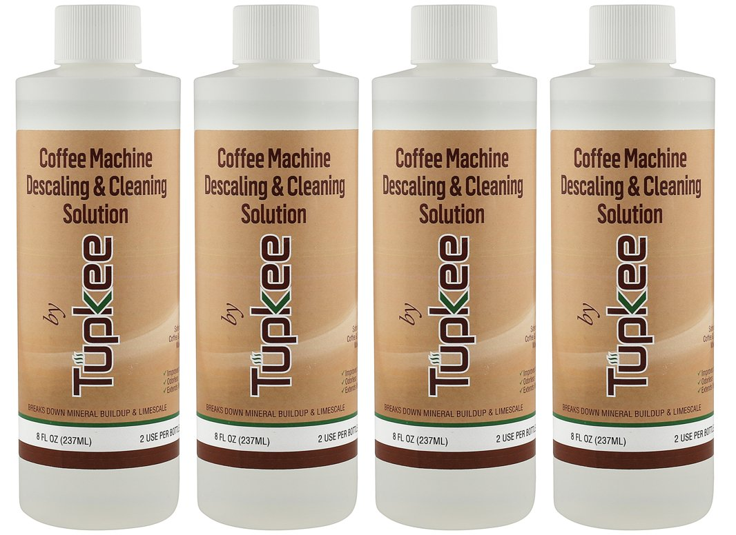 Descaling Solution Coffee Machine Descaler – Universal, For Drip Coffee Maker and Keurig Coffee Machines Descaling & Cleaning Solution, Breaks Down Mineral Buildup and Limescale - Pack of 4 by Tupkee