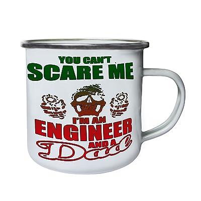 Vous ne pouvez pas m'effrayer ingénieur papa Rétro, étain, émail tasse 10oz/280ml z786e