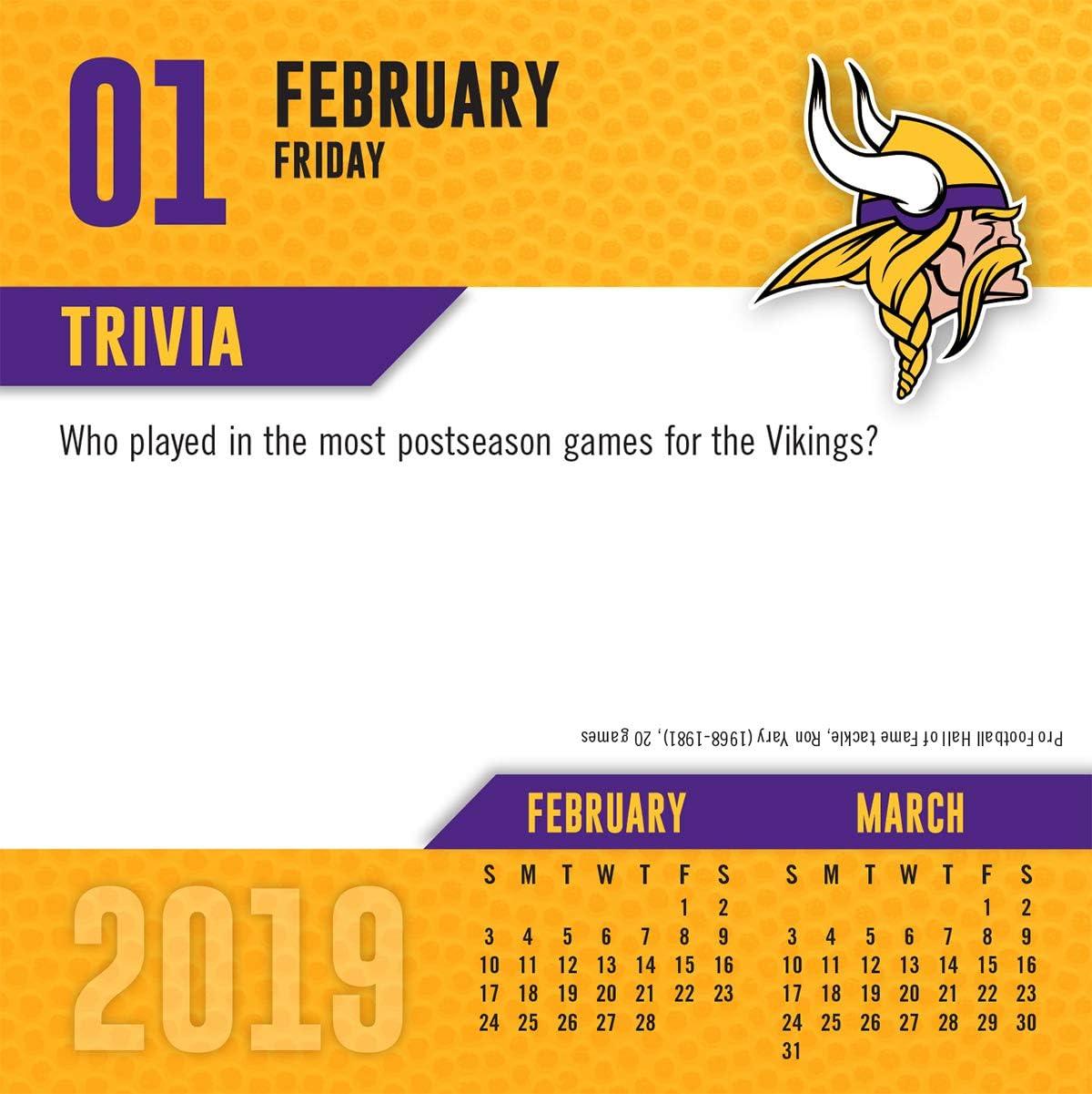 Turner Licensing Minnesota Vikings 2018-19 17-Month Planner 19998890549