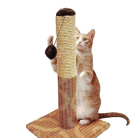 """Four Paws Cuatro Patas súper Catnip Gato rascador, 21 """"Tall Sisal y Alfombra"""