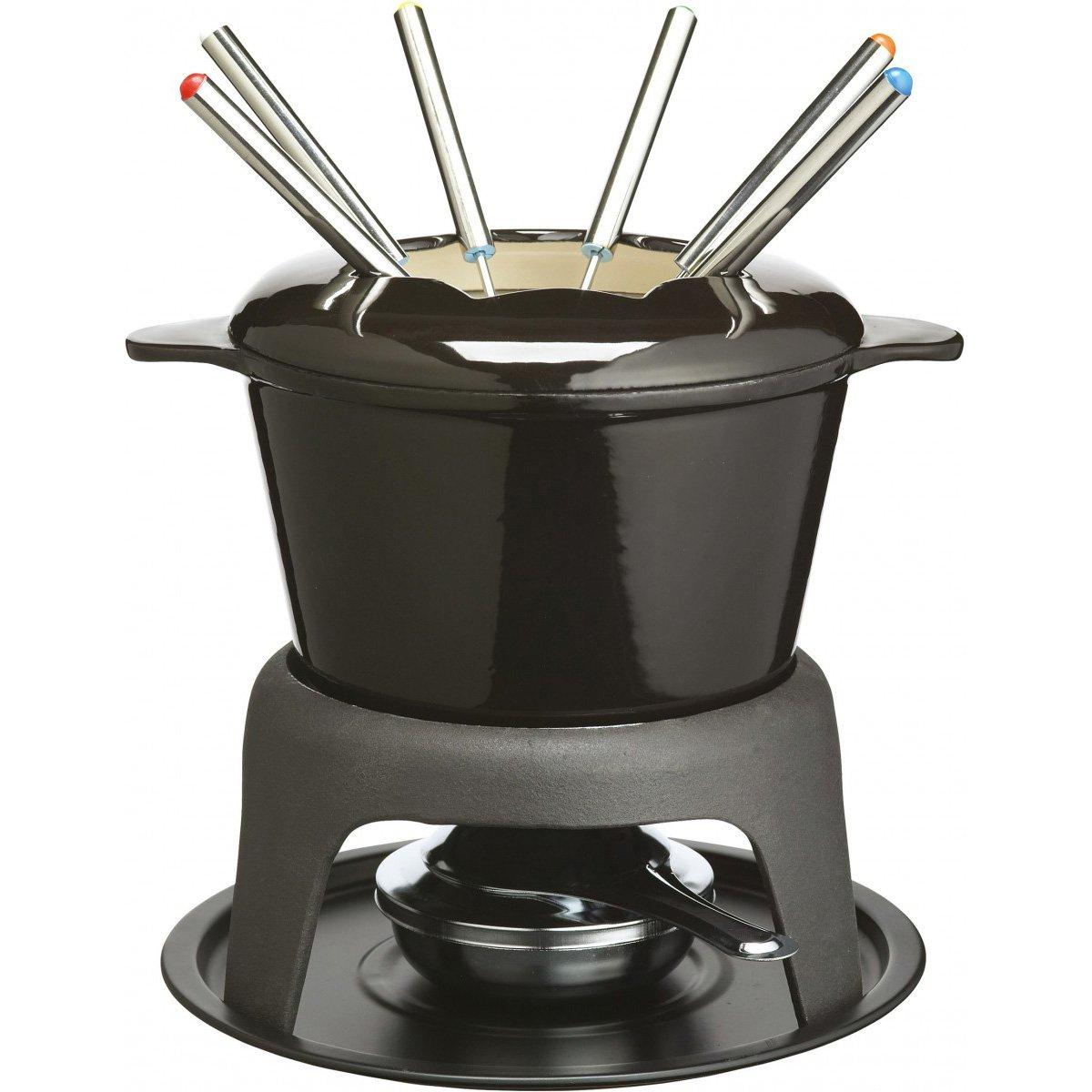 Kitchen Craft MasterClass - Set de Fondue de Hierro esmaltado (con 6 Pinchos),