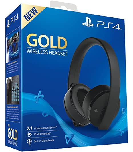 Sony PlayStation 4 Gold Cuffie Wireless 122ccd86c288
