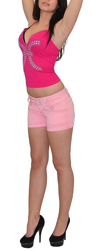 ESRA Damen Shorts Kurze Hose Damen Sommerhose Damenshorts in vielen Farben H31